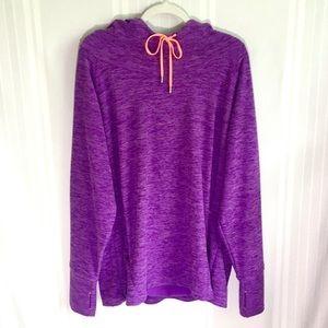 Lukka Purple Heathered Athletic Pullover Hoodie
